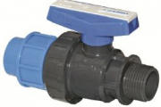 U-PVC Küresel Su Vanası Çift Taraf İçten Dişli (Pozisyon Ayarlı)