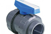 U-PVC Küresel Su Vanası (Çift Taraf İçten Dişli)