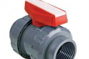 U-PVC Küresel Asit Vanası (Tek Taraf İçten Dişli - EPDM ve PTFE Contalı)