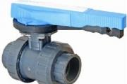 U-PVC Yapıştırma Muflu Küresel Su Vanası (Pozisyon Ayarlı)
