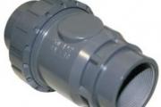 U-PVC Y.M. Küresel Tek Taraflı Yaylı Çekvalf (Çift Taraf Yapıştırma)