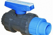 U-PVC Yapıştırma Küresel Vana(Tek Taraf Kaplin Çıkışlı)