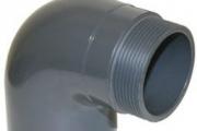 UH-PVC Y.M. Redüksiyonlu Dış Diş 90 Dirsek