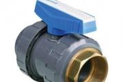 U-PVC İç Dişli Küresel Su Vanası (Tek Tarafı Pirinç İç Diş)