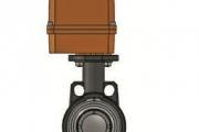 PVC-UH Elektrik Aktüatörlü Kelebek Vana(24 V DC) Elle Acil Kumandalı-Çıplak
