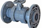 U-PVC Aktüatör Uyumlu Küresel Vana (Çift taraf Flanş Bağlantılı)