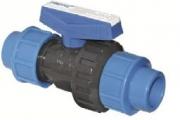 U-PVC Yapıştırma Küresel Tek Taraflı Vana (Tek Taraf Kaplin Çıkışlı)