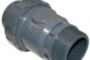 U-PVC Küresel Tek Taraflı Yaylı Çekvalf (Tek Taraf Dıştan Dişli)