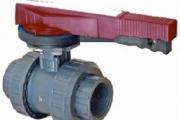 U-PVC Küresel Asit Vanası Çift Taraf İçten Dişli (Posizyon Ayarlı) EPDM